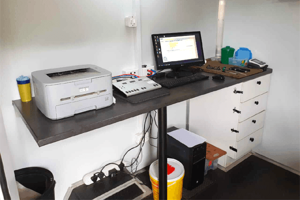 Inside Mobile Medical Unit