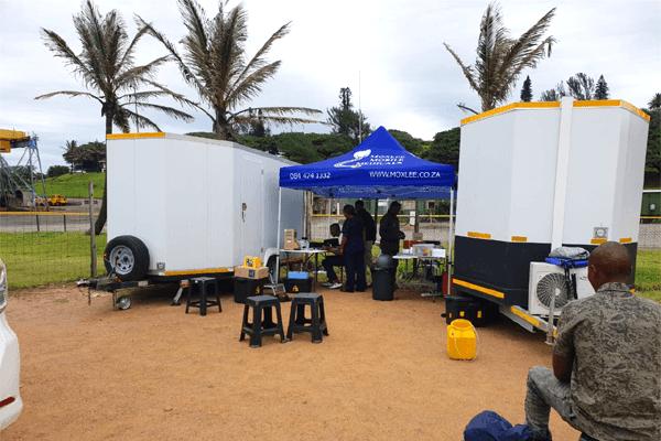 Setup Outside Mobile Medical Unit
